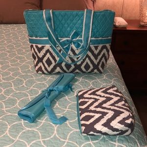 Quilted purse/diaper bag